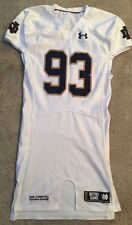 2014 GAME USED #93 UNDER ARMOUR NOTRE DAME FOOTBALL AWAY JERSEY
