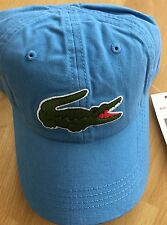 NEW  LACOSTE MEN'S GABARDINE LARGE CROCODILE BACKSTRAP HAT CAP