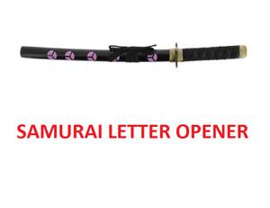 NEW DECORATIVE MINATURE JAPANESE SAMURAI SWORD LETTER OPENER NOVETLY GIFT PRPBLK