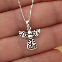 Antique Silver Plt Rose /& Sea Opal Heart Pendant Chain Necklace Ladies GIft