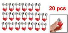 20pcs Night Fishing Rod Clamp Tip Clip Ring Fish Bait Alarm Bells Red Tone Z9D9