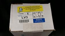 LV3 Plastic Retrofit Low Voltage Mounting Bracket Triple Gang 5 Pack