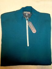 Peter Millar Element 4 Wool Blend Quarter Zip Sweater NWT XXL $195 Dark Green