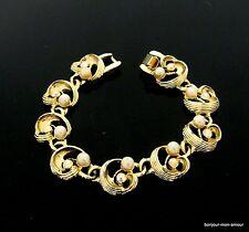 1970s Faux perlen & Strass Glieder Armband, faux pearl & rhinestone bracelet