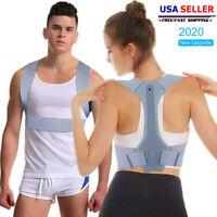 Posture Corrector Support Back Shoulder Brace Belt Adjustable For Men Women NEW