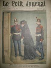 JUSTICE PROCES ASSISES AFFAIRE STEINHEIL BOX DES PRéVENUS LE PETIT JOURNAL 1909