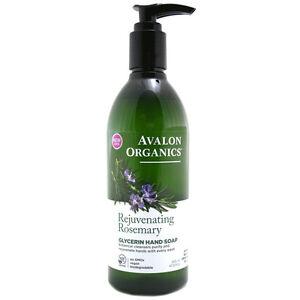 Avalon Organics Hand Soap Rejuvenating Rosemary Glycerin 355ml Gentle hand wash