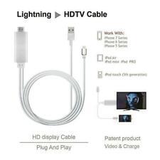 6ft Lightning A Hdmi Av Adaptador Video Cable Dock para iPad iPhone 7/8/X/XS IOS13