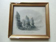 """Gravure  J HARWOOD London 1845   """" les autelets sark """""""