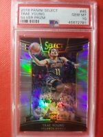 TRAE YOUNG 2018 PANINI SELECT SILVER PRIZM #45 ROOKIE RC PSA 10 GEM MINT