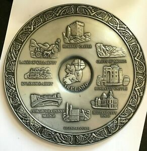 MULLINGAR PEWTER PLACES OF IRELAND PLATE PLAQUE