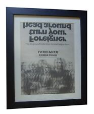 FOREIGNER+Double Vision+POSTER+AD+RARE ORIGINAL 1978+FRAMED+EXPRESS GLOBAL SHIP