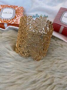 Gold Chantilly Lace Cuff By Stella And Dot Rrp £85! Stylist Sample  (no Box)