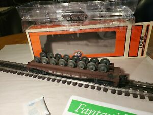 Lionel O 6-26699 Pennsylvania Flatcar W/Wheels High Quality/Detail  C9 Cond