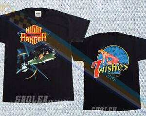 LIMITED NIGHT RANGER 7 WISHES 1985 T-SHIRT   NEW   MERCH TOUR RARE HIP HOP