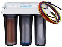 4 stage RO/DI water filter 100 GPD reverse osmosis RO DI for reef aquariums