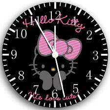 Hello Kitty Frameless Borderless Wall Clock Nice For Gifts or Decor X21