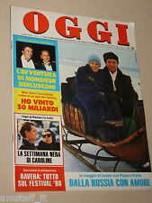 OGGI=1986/6=KATIA RICCIARELLI=FEDERICO FELLINI=ANGELO ALFREDO CASTIGLIONI=