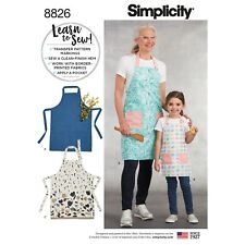 Simplicity Easy Learn To Sew SEWING PATTERN 8826 Child's & Misses' Aprons