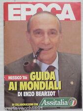 GUIDA AI MONDIALI MESSICO 86 Enzo Bearzot Epoca Mundial Coppa del Mondo Calcio
