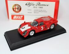 Alfa Romeo 33.2  Imola 1968 VACCARELLA/ZECCOLI 1:43 Best 9115 Model Car Diecast