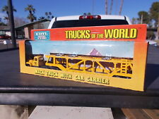 Vintage ERTL Trucks of the World Mack Semi Truck Tractor Car Transporter Trailer