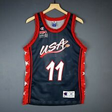 100% Authentic Karl Malone Vintage Champion USA Olympics Jersey Size 40 S M Mens