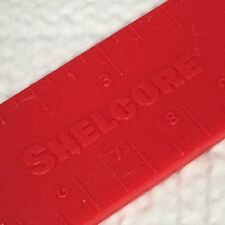 Vintage Shelcore Red Plastic 6 Inch Kids School Ruler - Inches & Centimeters
