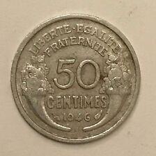 Pièce Ancienne - 50 centimes Morlon 1946 B - Ancient French 50 cents francs coin