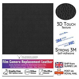 Camera Replacement Self-adhesive PU Leather 0.8mm Thin [BLACK] Restoration DIY