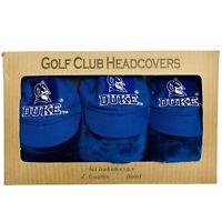 NEW Team Golf Duke University 3-Pack Golf Club Headcovers - Officially licensed