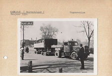 KAELBLE TRUCK & TRAILER CIRCA 1950 MODEL SHOWN, POST CARD PASTED TO CARD.