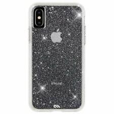 "CaseMate Protection collectio iPhone Xs Max"" 6.5"" Clear Silver Glitter - NEW"