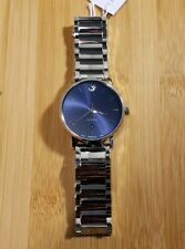 Movado Classic Museum Automatic Watch With 40mm Blue Face & Silver Breclet