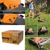 18 in. cut manual push non-electric walk behind reel mower   fiskars max inch
