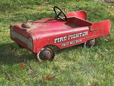 Fire Fighter Pedal Car No. 508  Vintage AMF Pressed Steel for Restoration