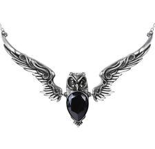 Stryx vampiro colgante buho Atenas negro collar con cristal P753 Alchemy Gothic