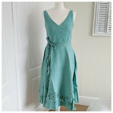Laura Ashley Fully Lined Linen Dress, Size 10