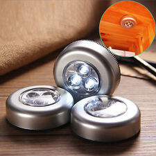 Hot 5 LED Touch Night Lights Home Cabinet Push Tap Stick On Battery Powered Lamp