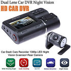 "Full HD 2.0"" 1080P LCD Car DVR Camera Dual Lens Video Dash Cam +Rear View Camera"