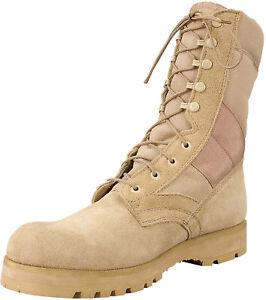 "8"" Tactical Boots Lug Sole Sierra Military Army Type Uniform Desert Tan & Black"