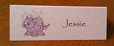 10 LARGE PLACE NAME CARDS PARTY BIRTHDAY CHRISTENING CHILDRENS CUTE DRAGON