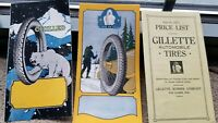 Vintage 1923 Gillette Tire Brochure Polar Bear Advertising Automobile Rubber old