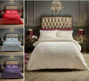 Teddy Bear Fleece Duvet Cover Set Thermal Warm Soft Sherpa Bed Set(HEART  FOIL )