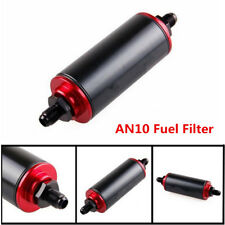 Universal Car Racing AN10 100Micron Aluminum High Flow Fuel Inline Petrol Filter