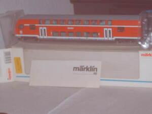 Märklin- HO Doppelstock-Steuerwagen 2. Klasse der DB-AG Neuwertig +OVP 43586