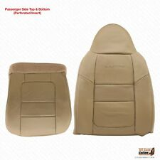 2001 Ford F250 F350 F450 550 Lariat PASSENGER Bottom-Lean Back Leather Cover Tan