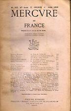 Mercure de France revue n°915, Apollonius, Arc de Triomphe de l'Etoile,