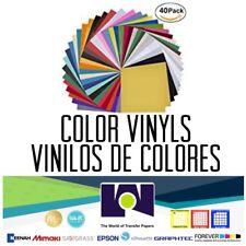 Craft Adhesive Vinyl Sheets 40 Sheets Pack For DIY Permanent adhesive