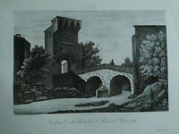 1845 Zuccagni-Orlandini Veduta del Ponte di S. Rocco a Vimercate